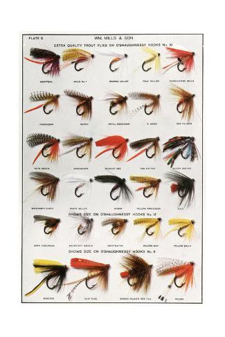 Fishing Flies (American) Giclée-Druck
