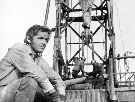 Five Easy Pieces, Jack Nicholson, 1970, Working at the Oil Well Foto