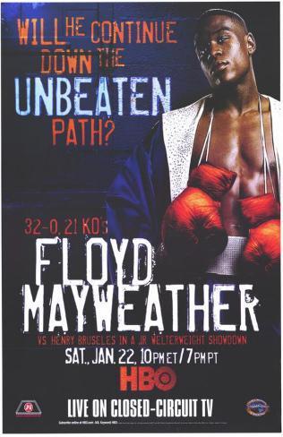 Floyd Mayweather vs Henry Bruseles Neuheit