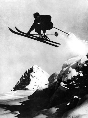Flying Skier! Fotografie-Druck