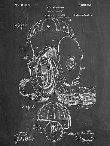 Football Leather Helmet Patent Kunstdruck