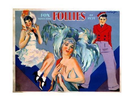 Fox Movietone Follies of 1929, 1929 Giclée-Druck