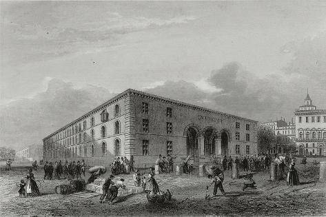 France, Bordeaux, Colonial Warehouse Giclée-Druck