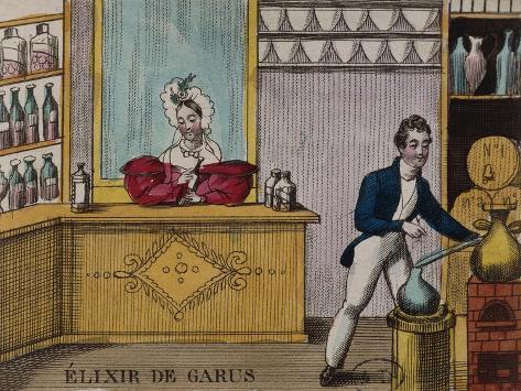 France, Paris, Distillation of the Elixir De Garus Giclée-Druck