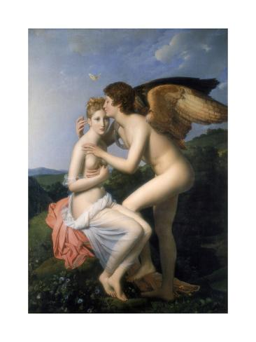 Psyche Receiving the First Kiss of Cupid, 1798 Giclée-Druck