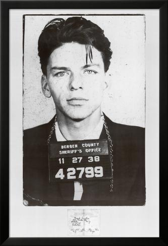 Frank Sinatra Mugshot Laminiertes gerahmtes Poster