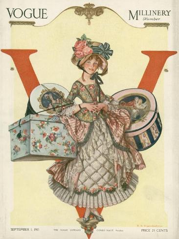 Vogue Cover - September 1913 - All Boxed Up Giclée-Premiumdruck