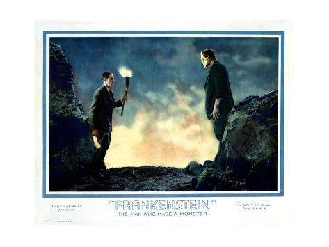 Frankenstein, Colin Clive, Boris Karloff, 1931 Giclée-Druck