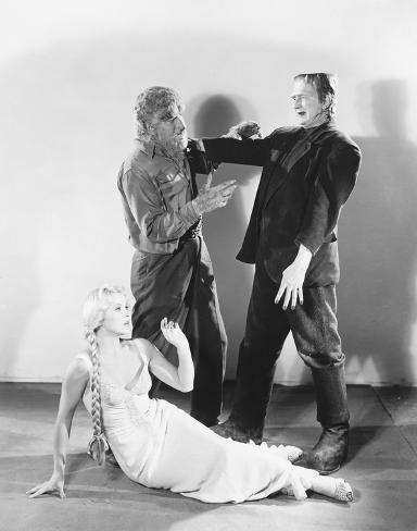 Frankenstein trifft den Wolfsmenschen Foto