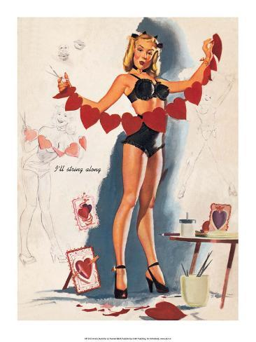 Pin up girl style lingerie