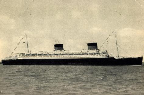French Line Cgt, S.S. Liberté, Dampfschiff Giclée-Druck