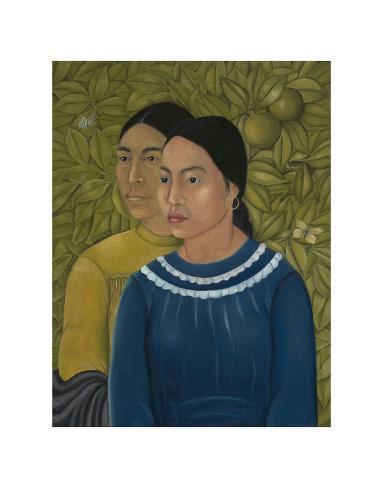 dos mujeres salvadora y herminia 1928 poster von frida. Black Bedroom Furniture Sets. Home Design Ideas
