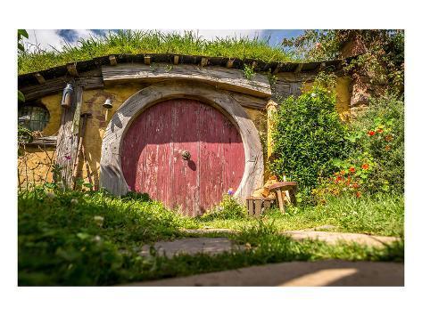Frodo's Village New Zealand Kunstdruck