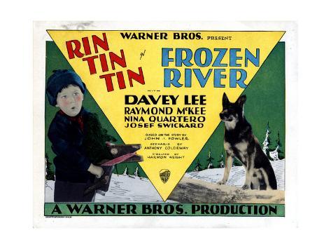 Frozen River, Davey Lee, Rin Tin Tin, 1929 Giclée-Druck