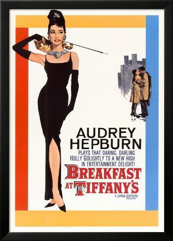 Frühstück bei Tiffany, Englisch Laminiertes gerahmtes Poster