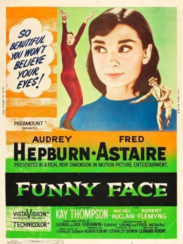 Funny Face, Audrey Hepburn, Fred Astaire, 1957 Kunstdruck