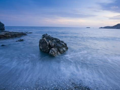 Dusk on the Southern Crete Coastline Fotografie-Druck