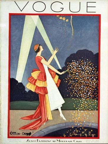 Vogue Cover - May 1926 Giclée-Premiumdruck