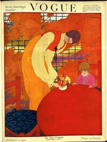 Vogue Cover - October 1918 Giclée-Premiumdruck