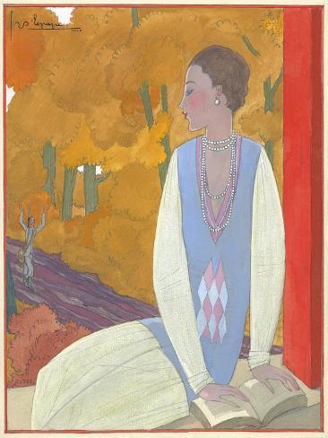 Vogue - October 1925 Giclée-Premiumdruck