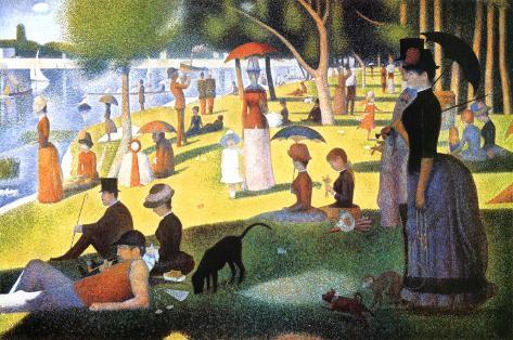 A Sunday on La Grande Jatte 1884, 1884-86 Poster