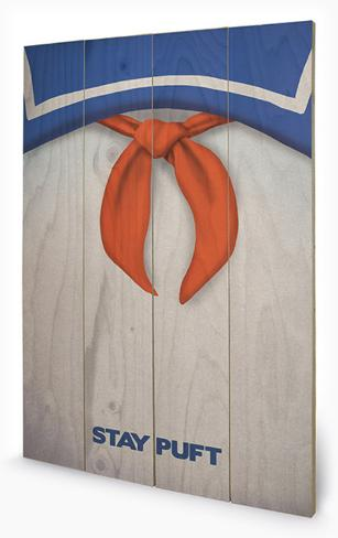 Ghostbusters - Stay Puft Wood Sign Holzschild