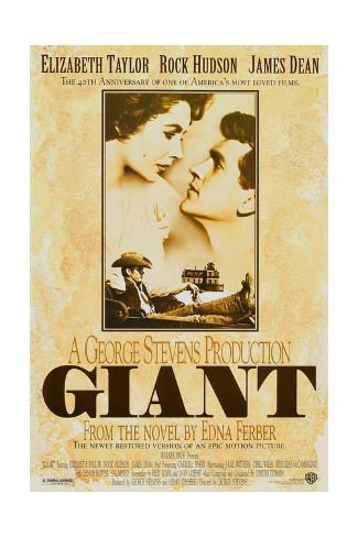Giant, Elizabeth Taylor, James Dean, Rock Hudson, Re-Issue Poster, 1996 Sonstiges