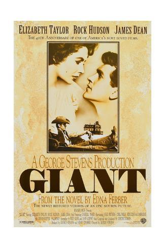 Giant, Elizabeth Taylor, James Dean, Rock Hudson, Re-Issue Poster, 1996 Giclée-Druck