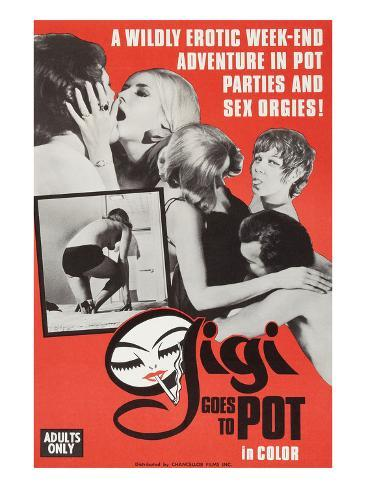 Gigi Goes to Pot Kunstdruck