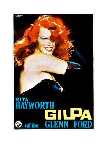 Gilda, Rita Hayworth, Italian Poster Art, 1946 Giclée-Druck