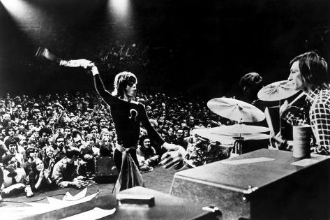 Gimme Shelter, Mick Jagger, Charlie Watts, 1970 Foto