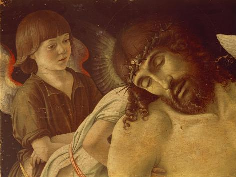 Pieta or Dead Christ Supported by Angels, Ca 1474 Giclée-Druck