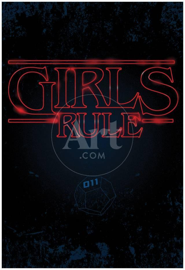 Girls Rule Vertical Night Blue Marquee Poster bei AllPosters.de