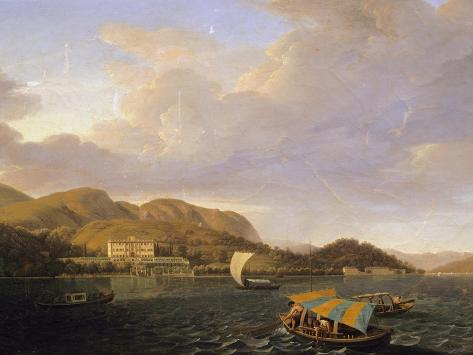 Villa Carlotta in Tremezzo on Lake Como Giclée-Druck