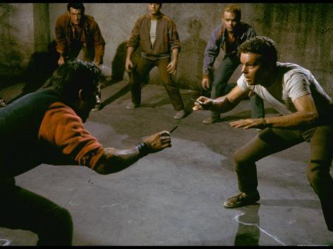 Knife Fight Scene from West Side Story Premium-Fotodruck