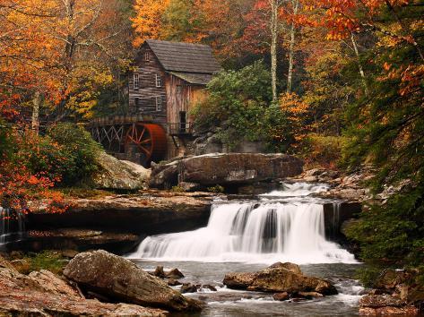 Glade Creek Mill, West Virginia Kunstdruck