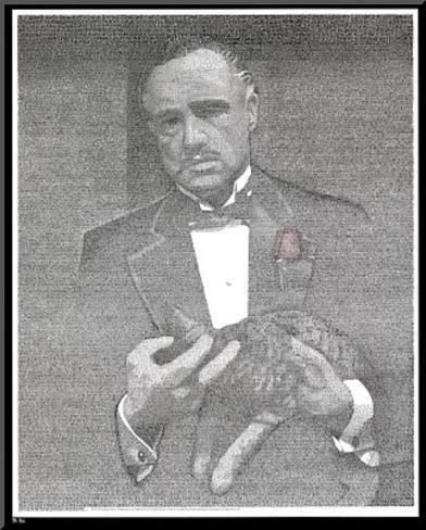 Godfather Movie (Script) Poster Print Druck aufgezogen auf Holzplatte