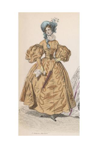 Gold Dress 1830S Giclée-Druck