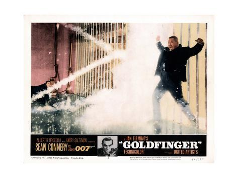 Goldfinger, from Left, Sean Connery, Harold Sakata, 1964 Giclée-Druck