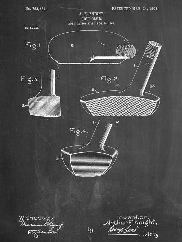 Golf Club Putter Patent Kunstdruck