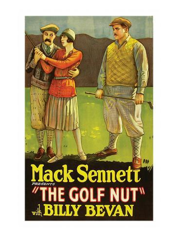 Golf Nut Kunstdruk