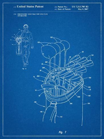 Golf Walking Bag Patent Golf Patent Kunstdruck