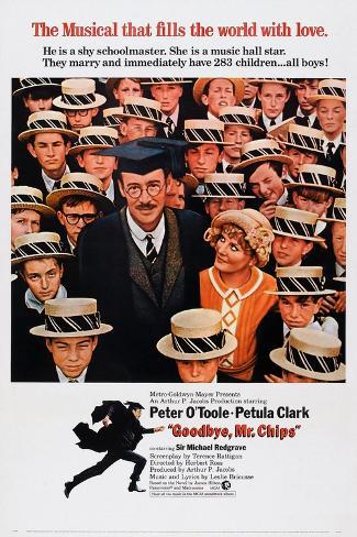 Goodbye, Mr. Chips, Peter O'Toole, Petula Clark, 1969 Kunstdruck