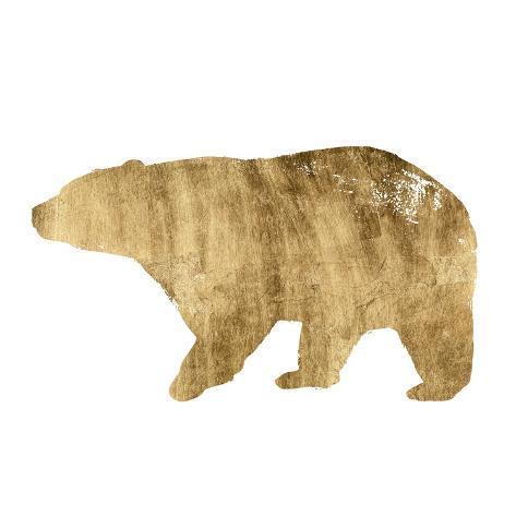 Brushed Gold Animals II Kunstdruck