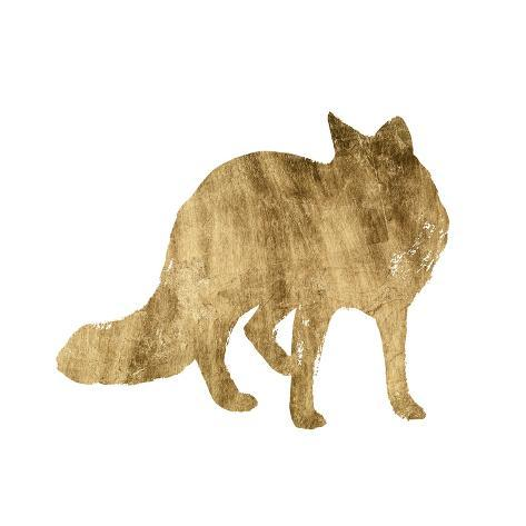 Brushed Gold Animals III Kunstdruck