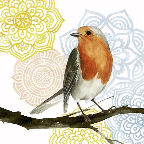 Mandala Bird IV Kunstdruck