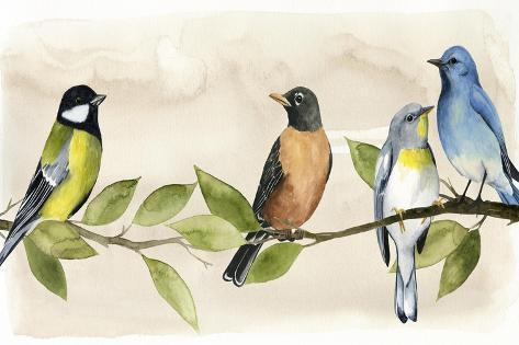 Treetop Gathering I Kunstdruck