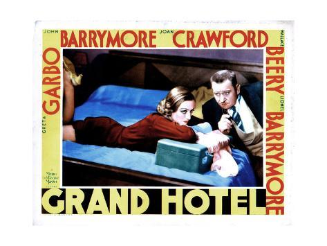 Grand Hotel, from Left, Joan Crawford, Wallace Beery, 1932 Giclée-Druck