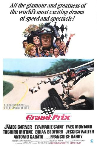 Grand Prix, James Garner, Eva Marie Saint, 1966 Kunstdruck