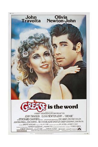 Grease, Olivia Newton-John, John Travolta, 1978. © Paramount Pictures/Courtesy Everett Collection Kunstdruck